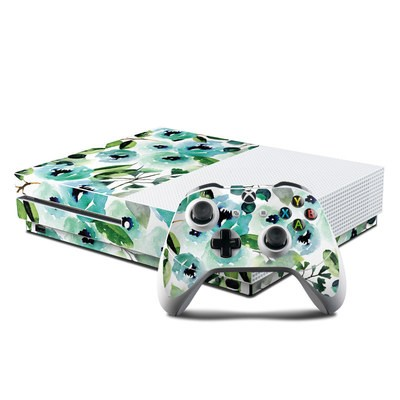 Microsoft Xbox One S Console and Controller Kit Skin - Peonies
