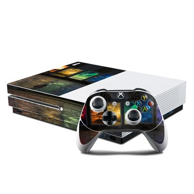 Microsoft Xbox One S Console and Controller Kit Skin - Portals