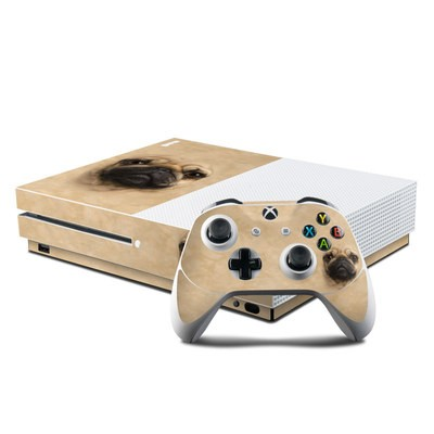 Microsoft Xbox One S Console and Controller Kit Skin - Pug