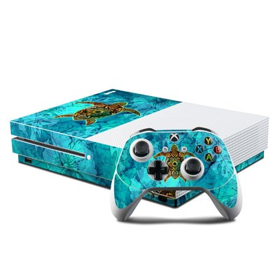Microsoft Xbox One S Console and Controller Kit Skin - Sacred Honu