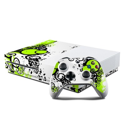 Microsoft Xbox One S Console and Controller Kit Skin - Simply Green