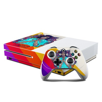 Microsoft Xbox One S Console and Controller Kit Skin - Singularity Glitch