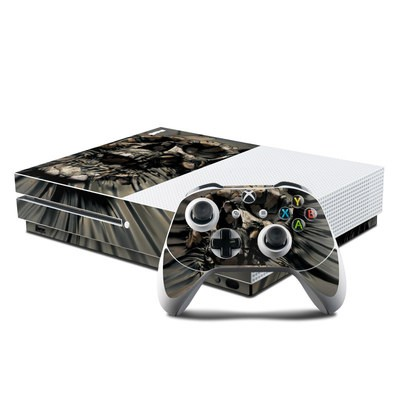 Microsoft Xbox One S Console and Controller Kit Skin - Skull Wrap