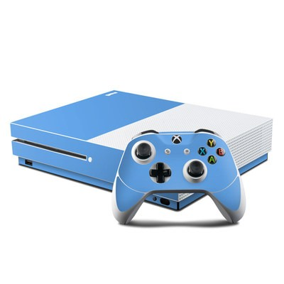 Microsoft Xbox One S Console and Controller Kit Skin - Solid State Blue