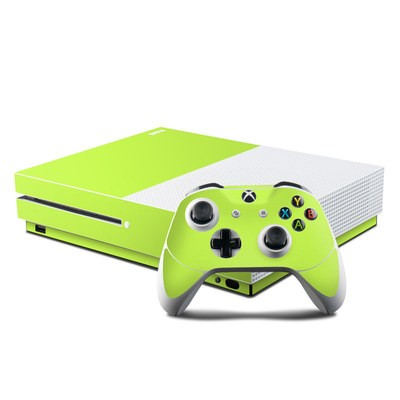 Microsoft Xbox One S Console and Controller Kit Skin - Solid State Lime