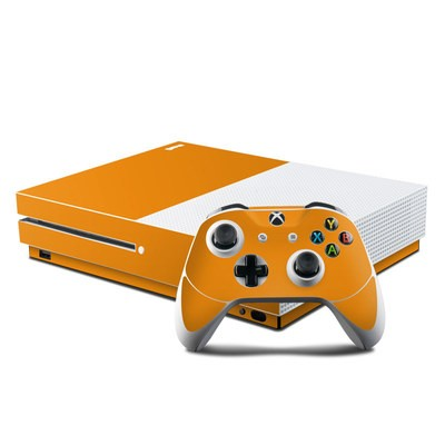 Microsoft Xbox One S Console and Controller Kit Skin - Solid State Orange