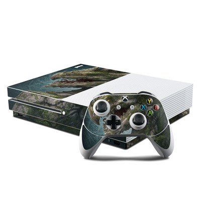 Microsoft Xbox One S Console and Controller Kit Skin - Stone Dragon
