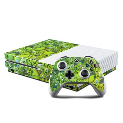 Microsoft Xbox One S Console and Controller Kit Skin - The Hive
