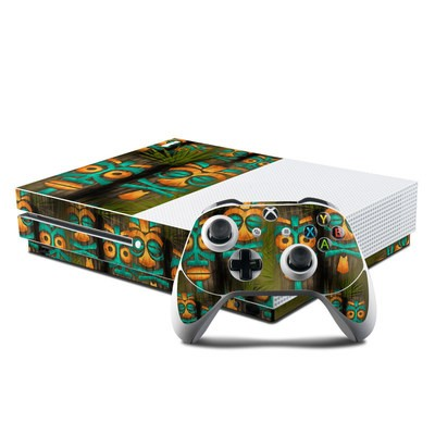 Microsoft Xbox One S Console and Controller Kit Skin - Tiki Abu