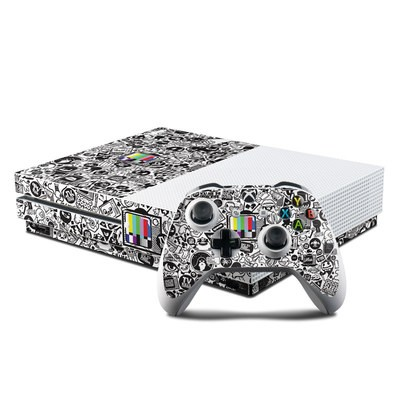 Microsoft Xbox One S Console and Controller Kit Skin - TV Kills Everything