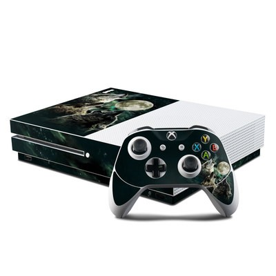 Microsoft Xbox One S Console and Controller Kit Skin - Three Wolf Moon