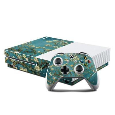 Microsoft Xbox One S Console and Controller Kit Skin - Blossoming Almond Tree