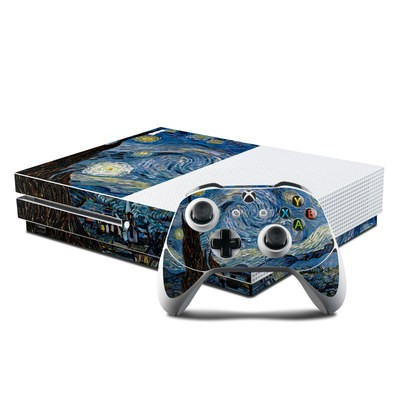 Microsoft Xbox One S Console and Controller Kit Skin - Starry Night