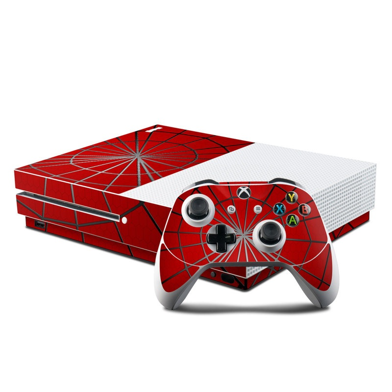 Awesome Microsoft Xbox One S Console And Controller Kit Skin Webslinger Gmtry Best Dining Table And Chair Ideas Images Gmtryco