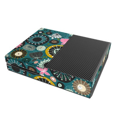 Microsoft Xbox One Skin - Blooms Teal
