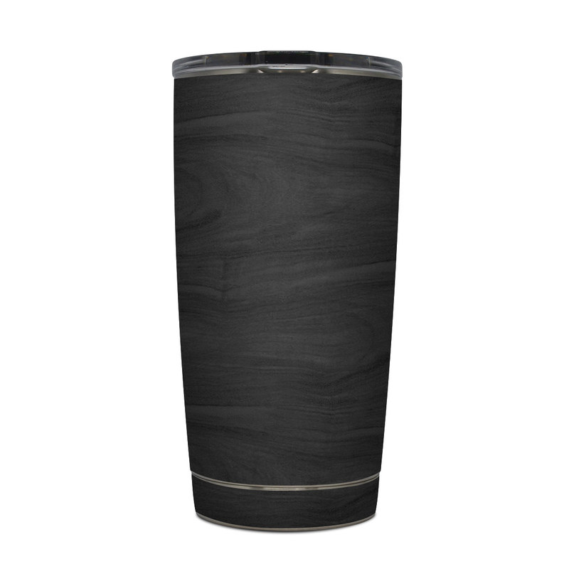 Yeti Rambler 20 oz Tumbler Skin - Black Woodgrain by DecalGirl Collective