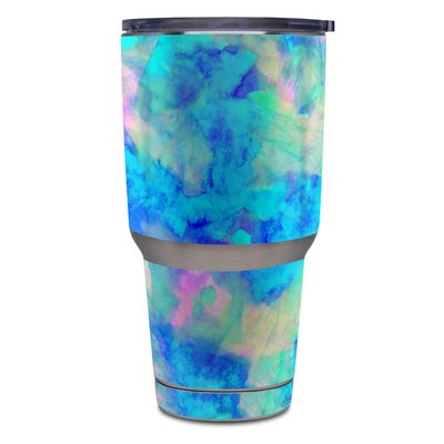 Yeti Rambler 30 oz Tumbler Skin - Electrify Ice Blue