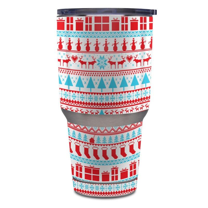 58abb611c25 Yeti Rambler 30 oz Tumbler Skin - Comfy Christmas by FP | DecalGirl