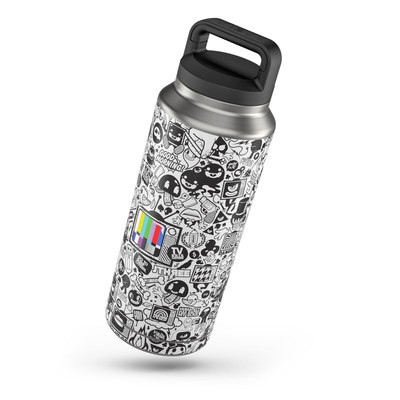 Yeti Rambler 36 oz Skin - TV Kills Everything