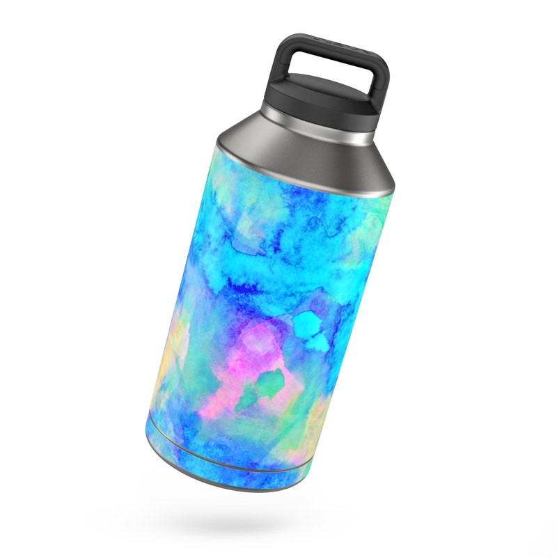 Yeti Rambler 64 Oz Bottle Skin Electrify Ice Blue By Amy Sia