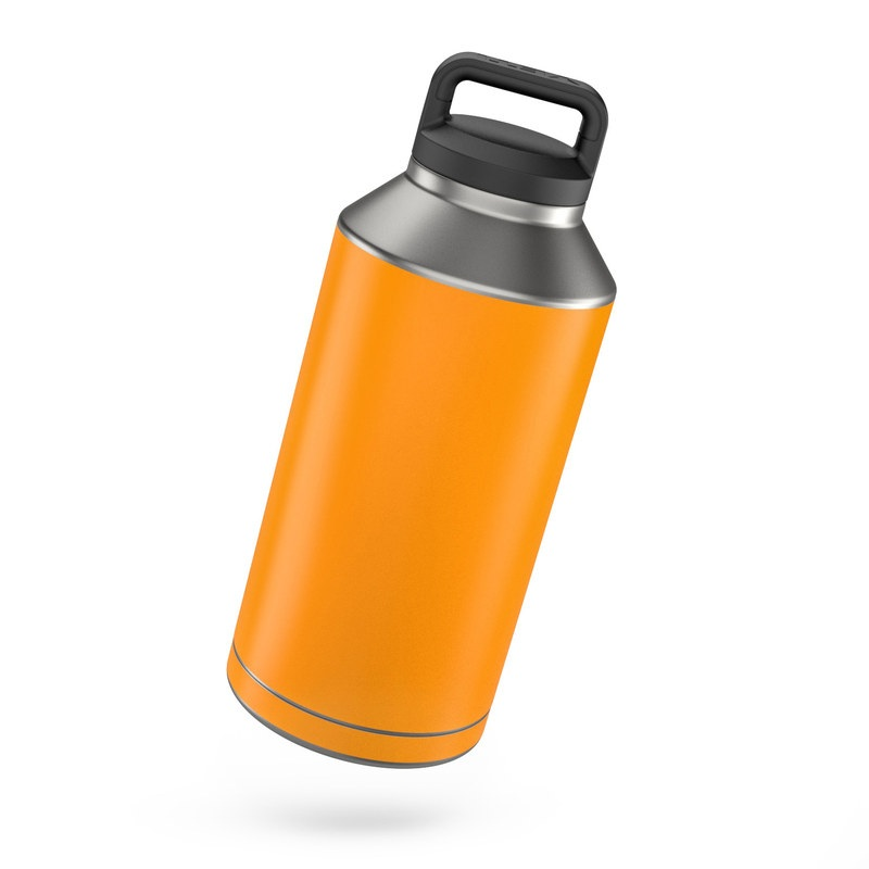 Yeti Rambler 64 Oz Bottle Skin Solid State Orange By Solid Colors