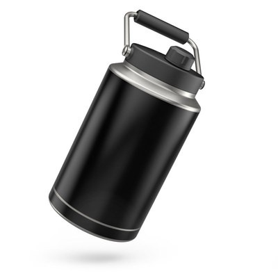 Skin for Yeti Rambler One Gallon Jug - Solid State Black