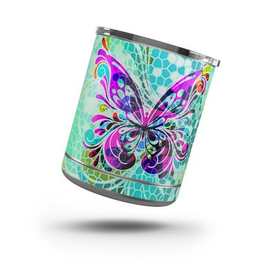 Yeti Rambler 10 oz Lowball Skin - Butterfly Glass