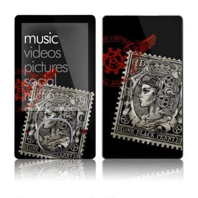 Zune 80/120GB Skin - Black Penny