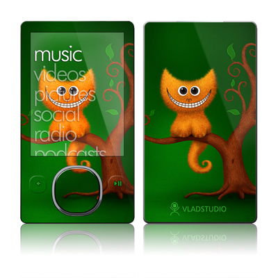 Zune 80/120GB Skin - Cheshire Kitten