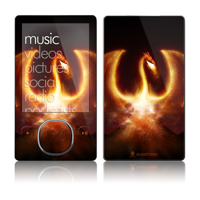 Zune 80/120GB Skin - Fire Dragon