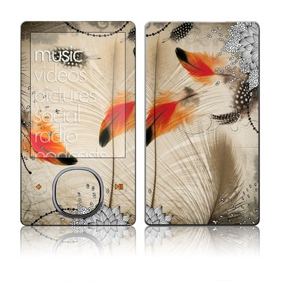 Zune 80/120GB Skin - Feather Dance