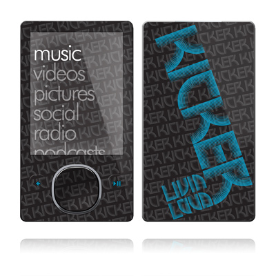 Zune 80/120GB Skin - KICKER Wall