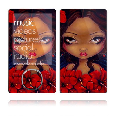 Zune 80/120GB Skin - Red Hibiscus Fairy