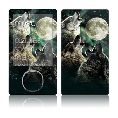 Zune 80/120GB Skin - Three Wolf Moon