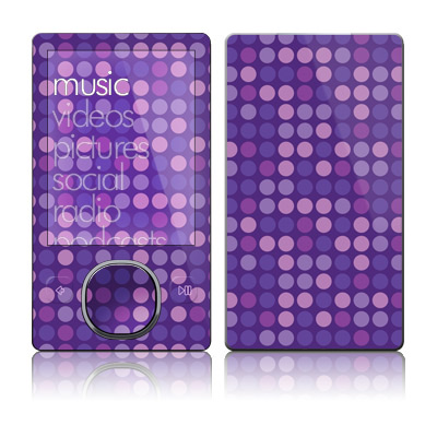 Zune 80/120GB Skin - Dots Purple