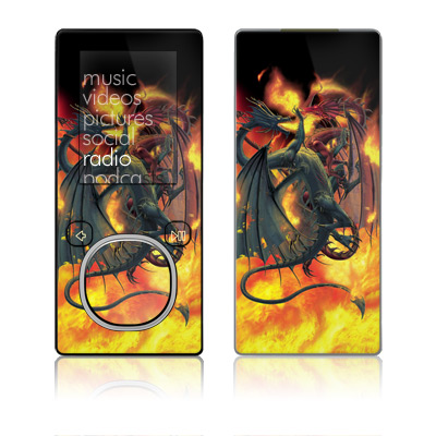 Zune 4GB/8GB Skin - Dragon Wars