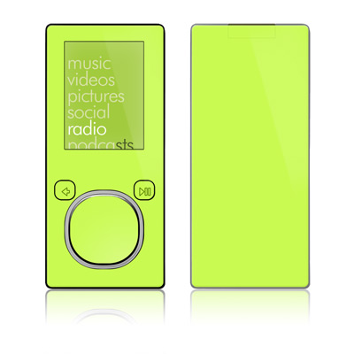 Zune 4GB/8GB Skin - Solid State Lime