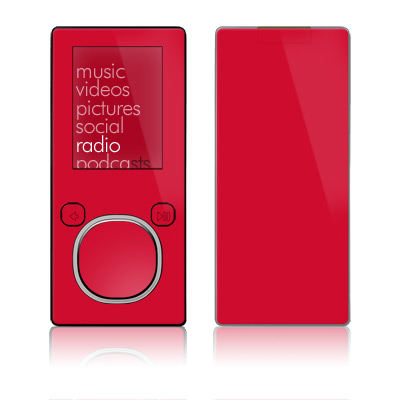 Zune 4GB/8GB Skin - Solid State Red