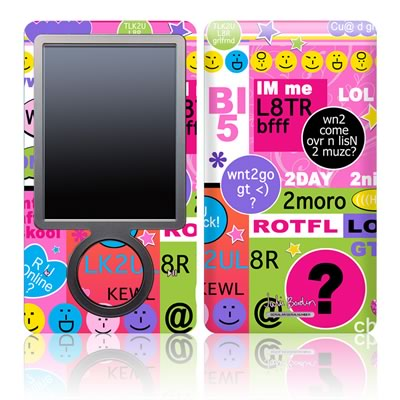 Zune 30GB Skin - BFF Girl Talk