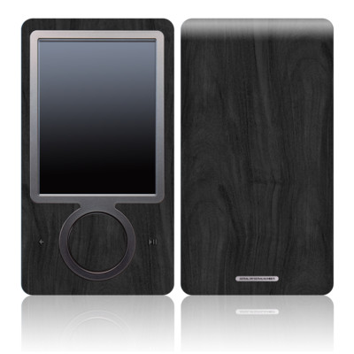 Zune 30GB Skin - Black Woodgrain