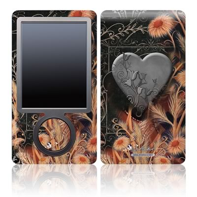 Zune 30GB Skin - Black Lace Flower