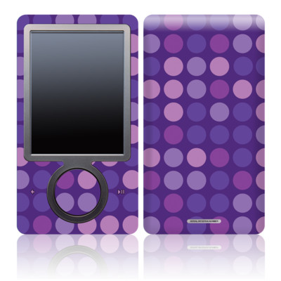 Zune 30GB Skin - Dots Purple