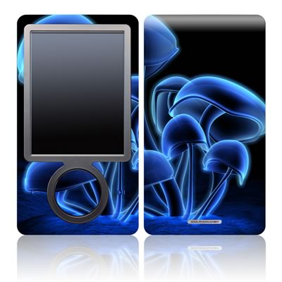 Zune 30GB Skin - Fluorescence Blue