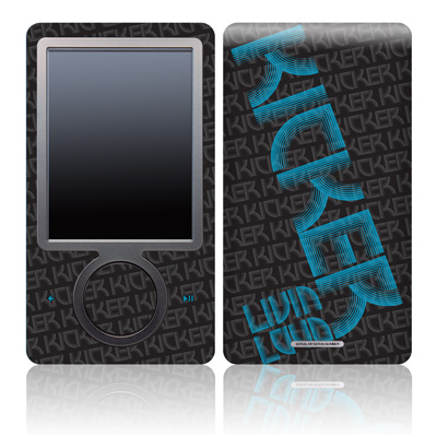 Zune 30GB Skin - KICKER Wall