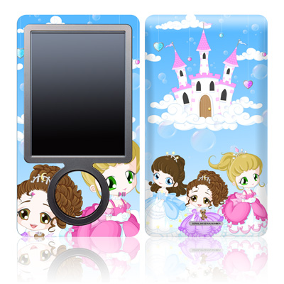 Zune 30GB Skin - Little Princesses